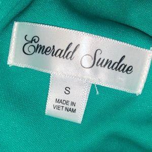 Emerald Sundae Dresses - Blue Pleated Bodycon Dress